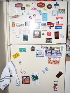 Refrigerator with Magnets